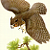 Great Horned Owl 1950 Mid-Century Athos Menaboni Natural History Antique