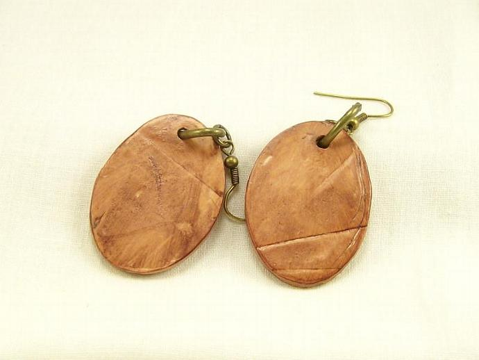 Western Dangle Earrings, Polymer Clay