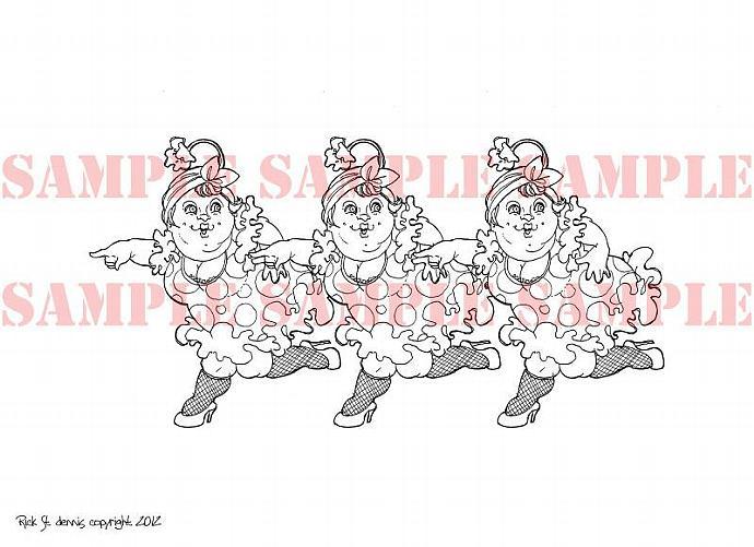 AP style Running Ladies Digi Stamp