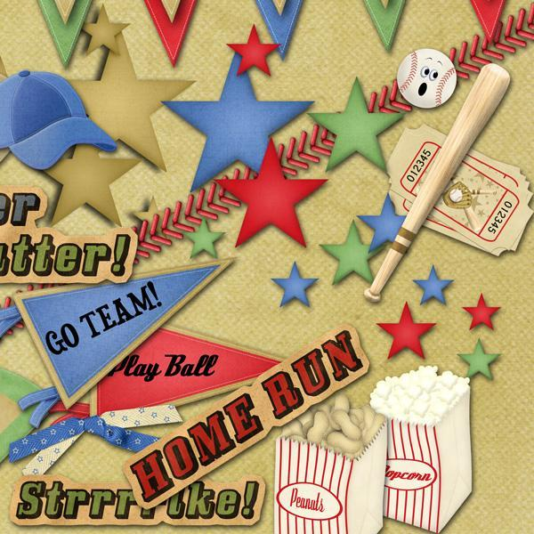 Batter Up (Digital Scrapbooking Kit)