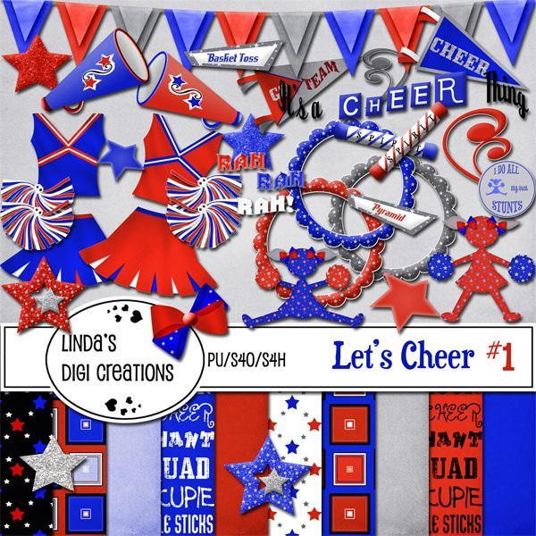 Let's Cheer #1 (Digital Scrapbooking Kit)