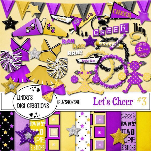 Let's Cheer #3 (Digital Scrapbooking Kit)
