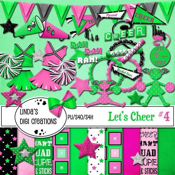 Let's Cheer #4 (Digital Scrapbooking Kit)