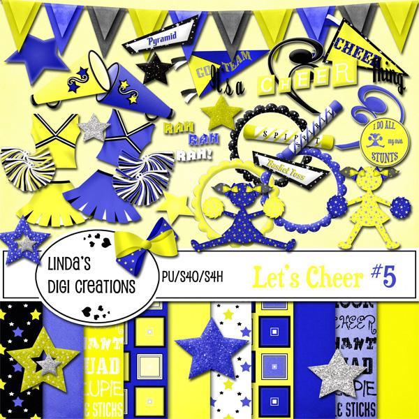 Let's Cheer #5 (Digital Scrapbooking Kit)