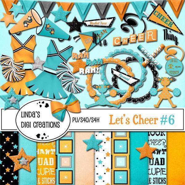 Let's Cheer #6 (Digital Scrapbooking Kit)