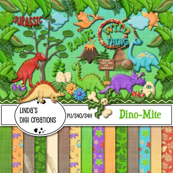 Dino-Mite (Digital Scrapbooking Kit)