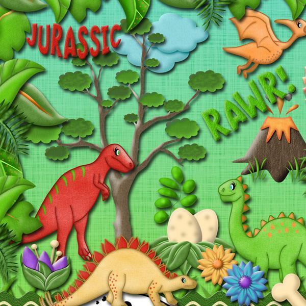 Dino-Mite (Digital Scrapbooking Kit)