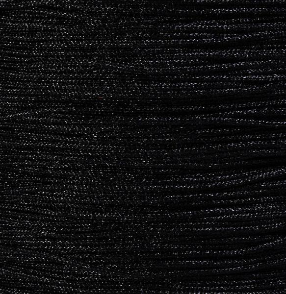 1mm Black nylon cord twisted thread - 10 feet (923)