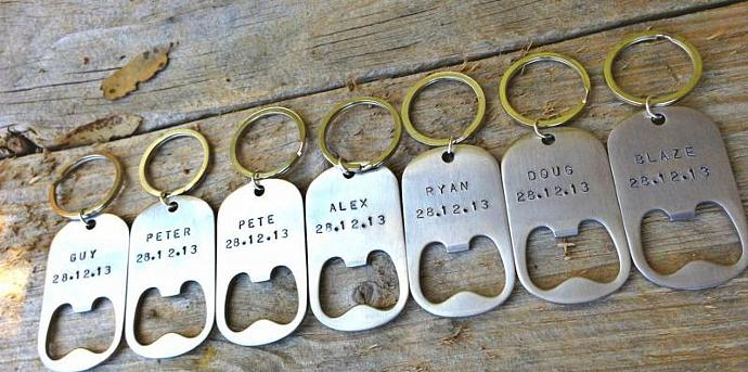 groomsmen gifts, personalized bottle opener, wedding favors for men,