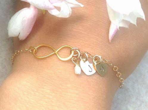 infinity bracelet, bridesmaid bracelets, will you be my bridesmaid, gold
