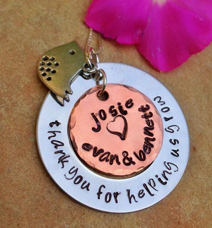 teacher appreciation, teacher appreciation gift, teacher necklace, thank you