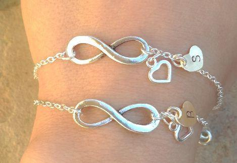 infinity bracelet, Custom Infinity Bracelet, Mom and Daughter Bracelets, For the