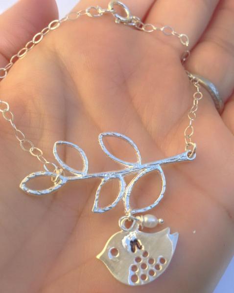initial bracelets, flower girl bracelet, bridal jewelry, sparrow, bird bracelet,