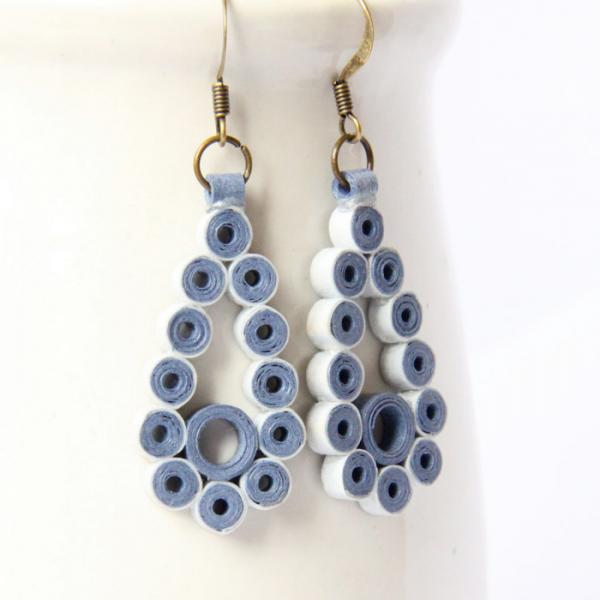 Save 75% CLEARANCE Blue Teardrop Earrings Winter Fashion Unique Handmade by
