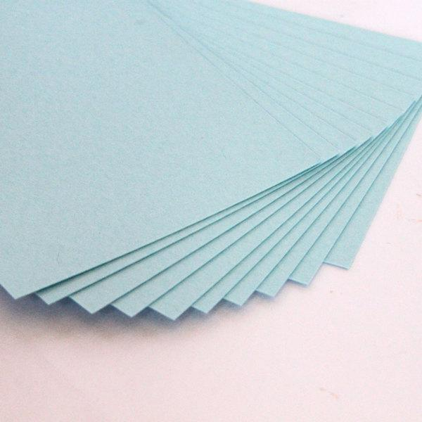 Blank Gift Tags - set of 30 light blue little cards