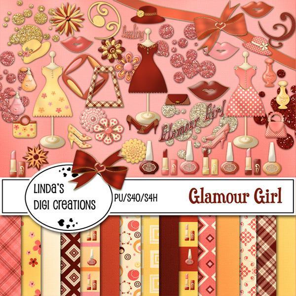 Glamour Girl (Digital Scrapbooking Kit)