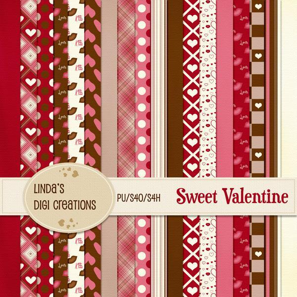 Sweet Valentine (Digital Scrapbooking Kit)