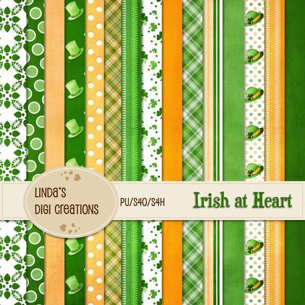 Irish at Heart (Digital Scrapbooking Kit)