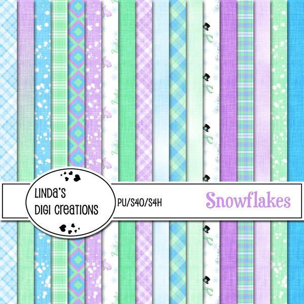 Snowflakes (Digital Scrapbooking Kit)