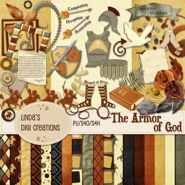 The Armor of God (Digital Scrapbooking Kit)