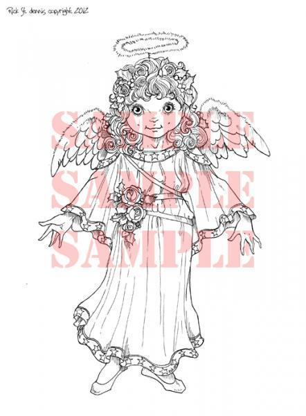 """Angel """"IsabellaI"""" digi stamp"""