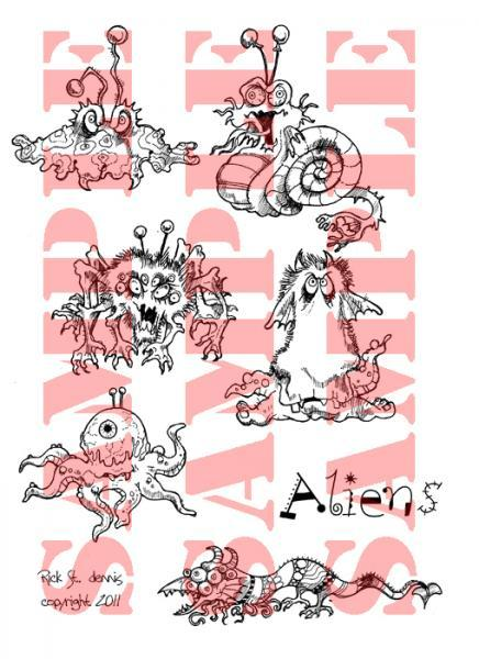 Aliens and Mutants digi sheet