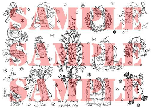 Lil Bits of Christmas digi sheet