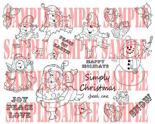 Simply Christmas digi sheet