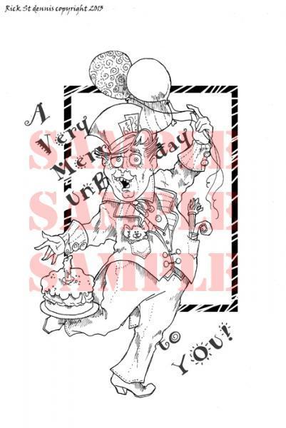 Mad Hatter UnBirthday digi stamp