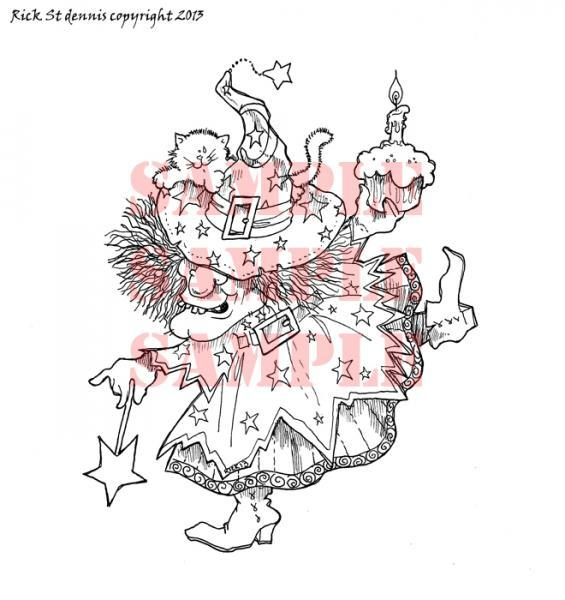 Witchy Birthday digi stamp