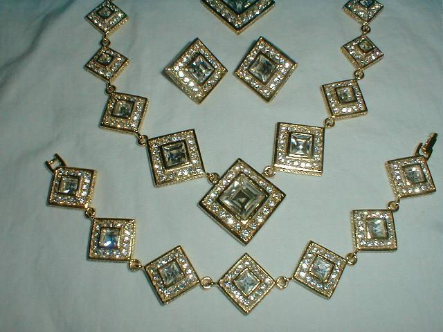 swarovski crystal grand parure vintage clear