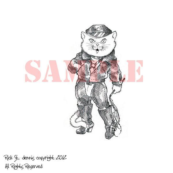 Cat O Nine Tails digi stamp