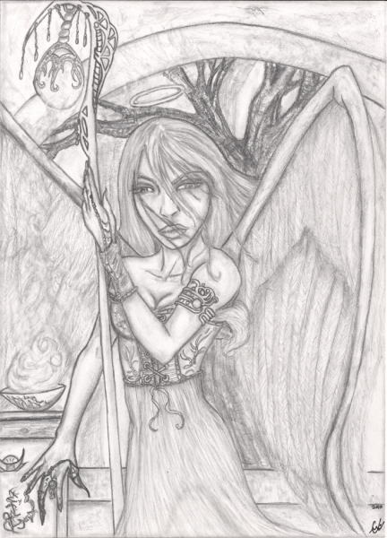 Obscura Illuminate, illustration, original pencils
