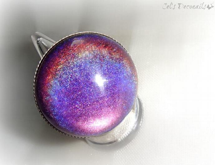 Color changing purple ring, gothic ring by Cel's Deconails