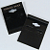 50 Black SS Earring Cards - 1 1/2 x 2 Inches