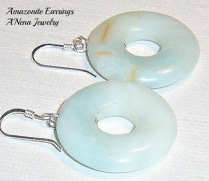 "Earrings : Amazonite Machu Picchu Inspired  ""Courage"""