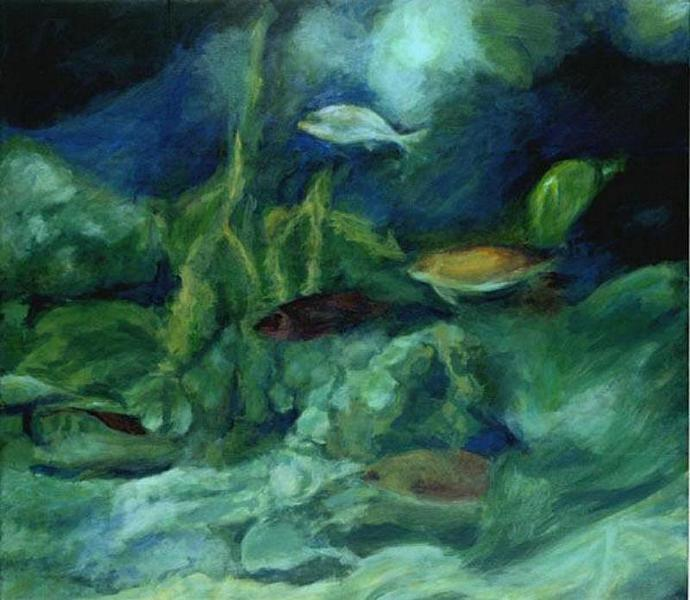 In The Deep V  (An Original Aquarium View)