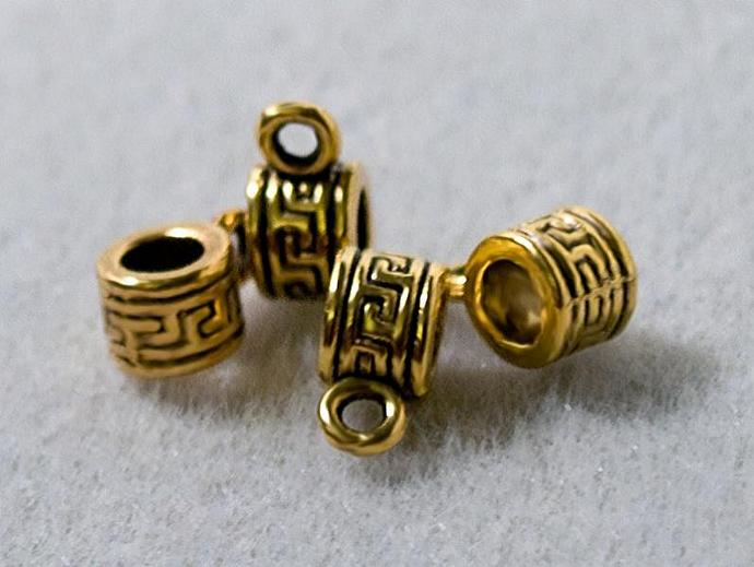 Aztec Style Bail- Antique Gold