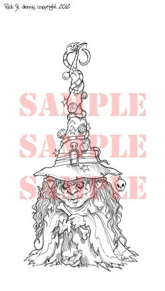 Witch Tree digi stamp