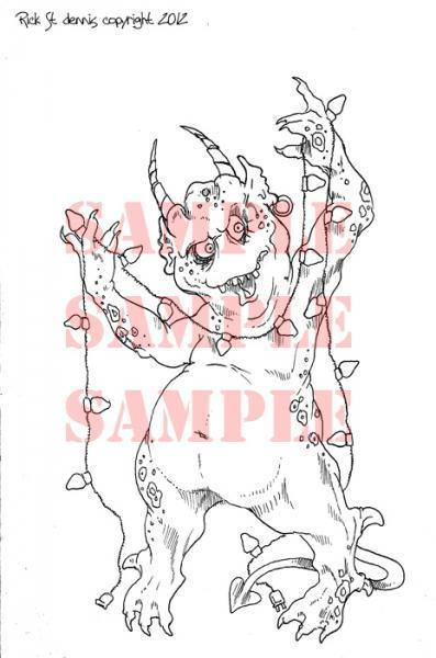 Creepmas Tree Lights digi stamp