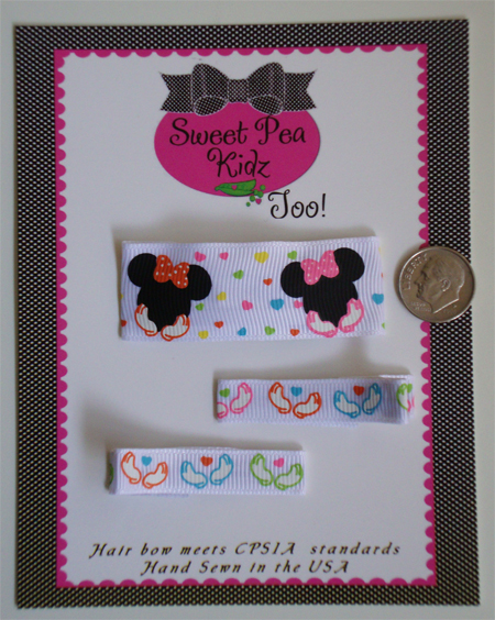 Minnie Mouse  Clippies for Baby Toddler Girls