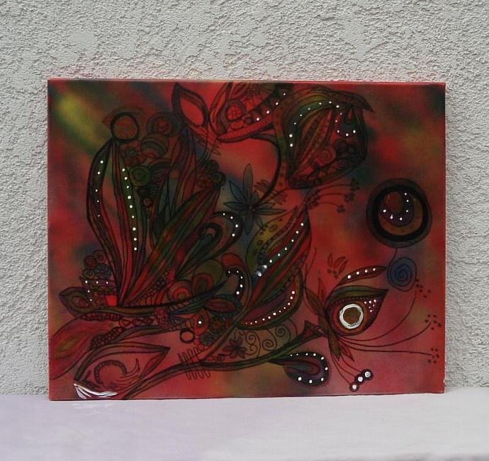 Doodle Abstract  Original Painting