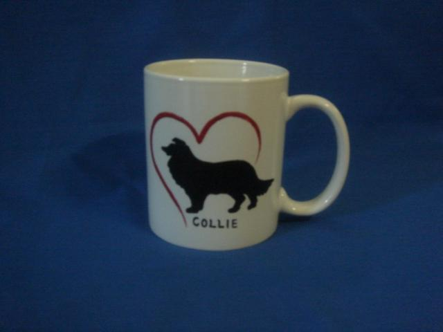 Personalized Ceramic Mug  COLLIE DOG