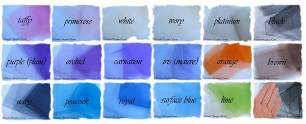 1yd Tulle - Matte Net - white, ivory, platinum, black, brown, orange, navy,