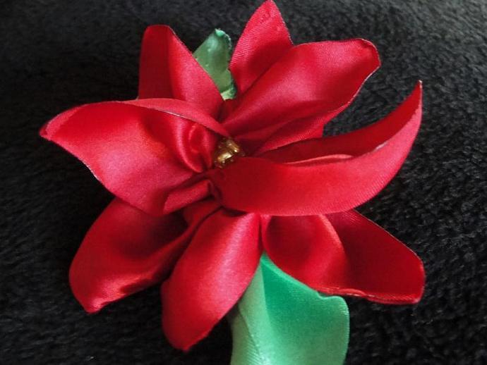 Holiday Poinsettia Flower Headband