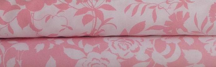 Primatex Basics - Pink and White - 1 yard