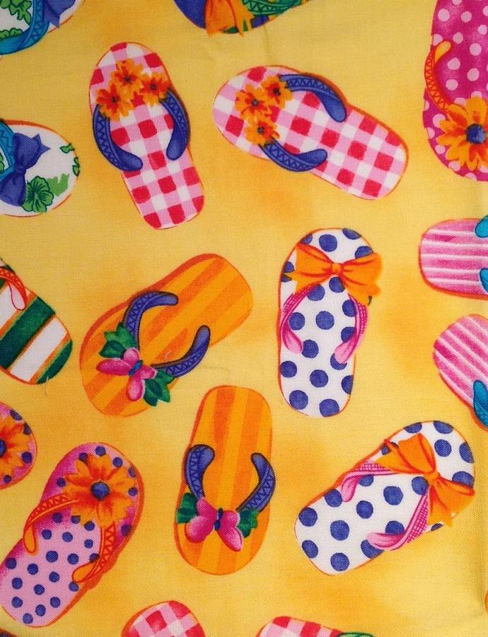 "Beach Sandal Fabric - 22"" x 25"""