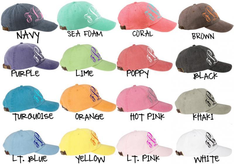 1ada3bb5da6 MONOGRAM Baseball Cap for Ladies