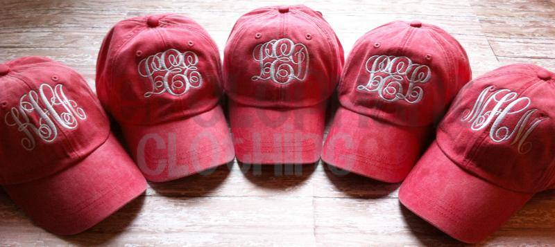 b99a37c3995 MONOGRAMMED Baseball Hat for Ladies