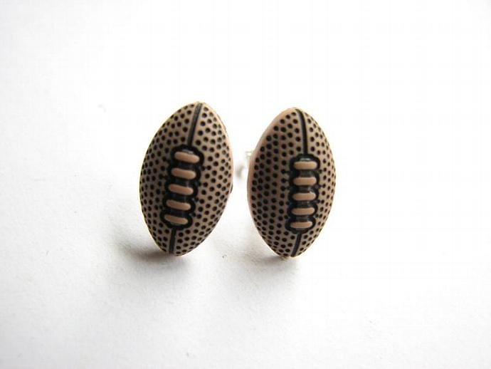 Football Stud Earrings Sports Jewelry Team Jewelry